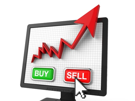 Graph Screen with Buy and Sell Button photo