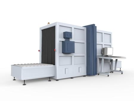 x ray machine: Cargo Screener Isolated