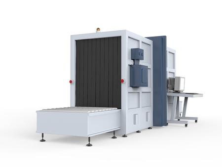 airport customs: Cargo Screener Isolated