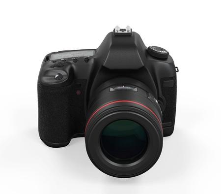 digital slr: Digital SLR Camera Isolated Stock Photo