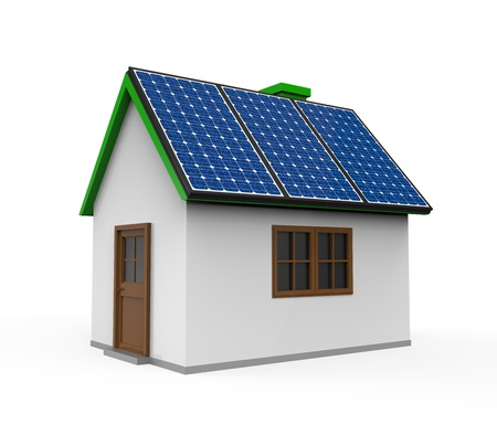House with Solar Panels photo