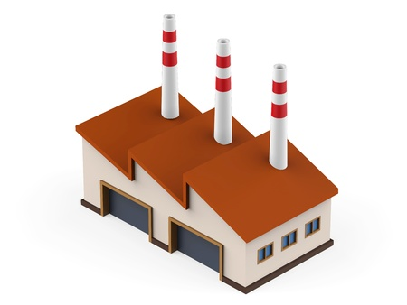 industry background: Industrial Factory Building