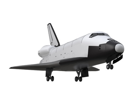 Space Shuttle Isolated Stock Photo