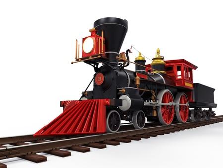 오래된 증기 기관 열차