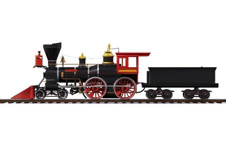 estacion de tren: Vieja locomotora de tren
