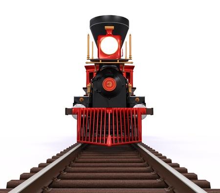 treno espresso: Vecchia Locomotiva Treno Archivio Fotografico