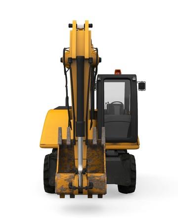 Yellow Excavator Isolated Stock Photo - 20753797