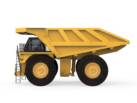 dumper truck: Yellow Mining Truck Isolated Stock Photo