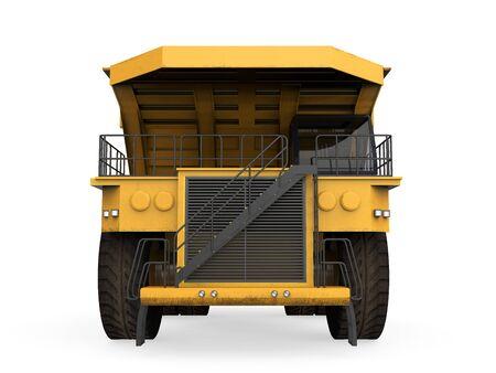 mining truck: Yellow Mining Truck Isolated Stock Photo