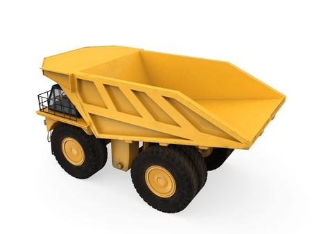 Yellow Mining Truck Isolated photo