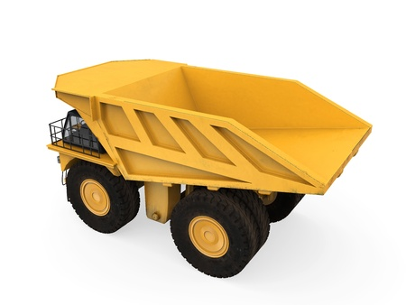 Yellow Mining Truck Isolated Reklamní fotografie