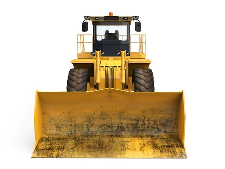 Yellow Bulldozer Isolated Stock Photo - 20753867