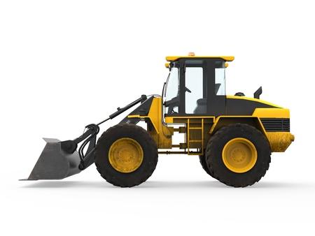 bulldozers: Wheel Loader Bulldozer Stock Photo