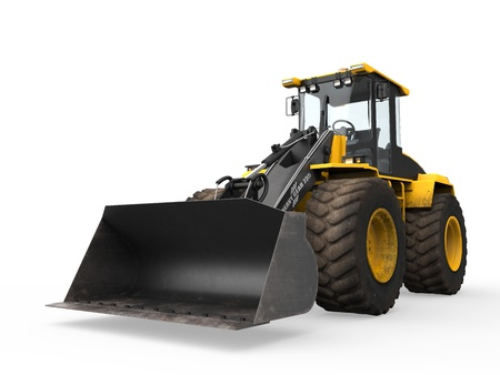 wheel loader: Wheel Loader Bulldozer Stock Photo