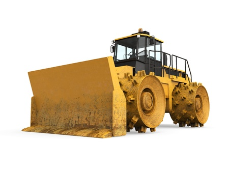 Yellow Bulldozer Isolated Stock Photo - 20754305