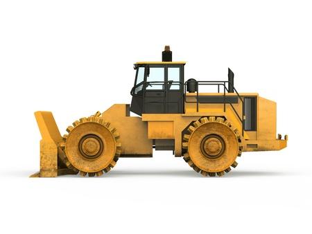 Yellow Bulldozer Isolated Stock Photo - 20754306