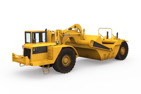 Wheel Tractor Scraper Stock Photo - 20754308
