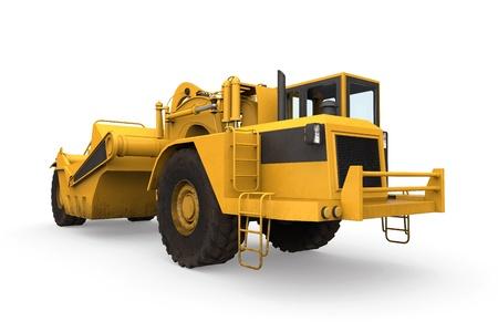 maquinaria pesada: Rueda Scraper Tractor