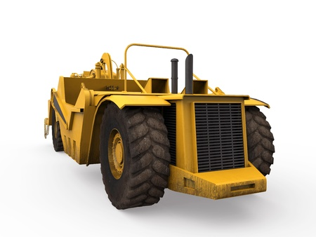 Wheel Tractor Scraper Stock Photo - 20754313