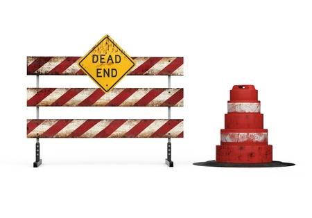 barrier: Dead End Sign