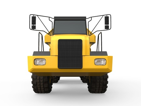 Dump Truck Isolated photo