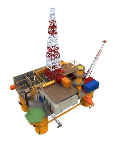 oil  rig: Drilling Offshore Oil Rig Platform Archivio Fotografico