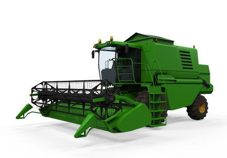 Combine Harvester Isolated photo