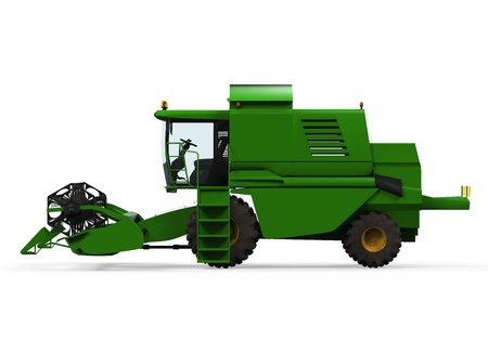 Combine Harvester Isolated Stock Photo - 20918882