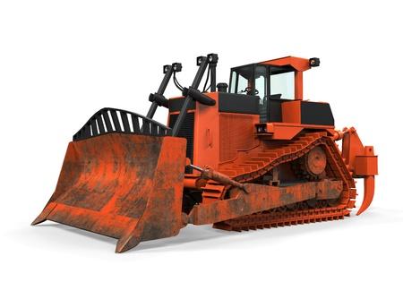 Bulldozer Isolated Stock Photo - 21133686