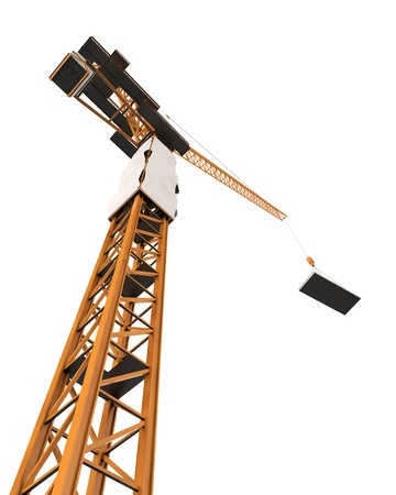steel structure: Crane Tower Isolated