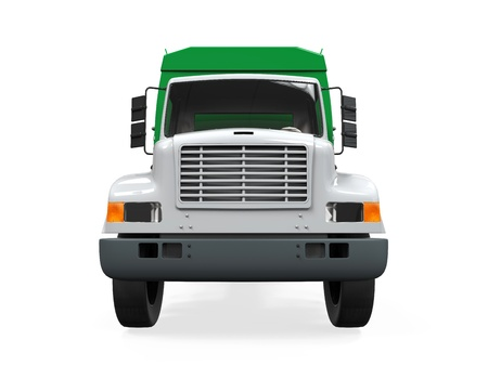 dumps: Garbage Truck Isolated