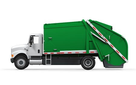 recycle trash: Garbage Truck aislada