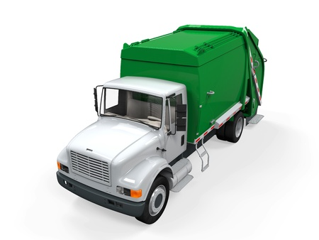 Garbage Truck Isolated Stock Photo - 21419111
