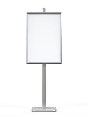 affichage publicitaire: Blanc Affichage publicitaire stand Banque d'images