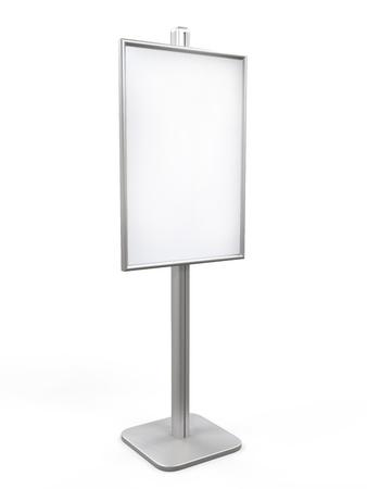 portative: Bianco Display Advertising stand Archivio Fotografico