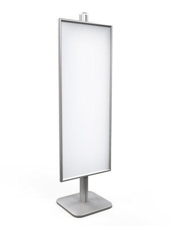 affichage publicitaire: Blanc Display Advertising stand