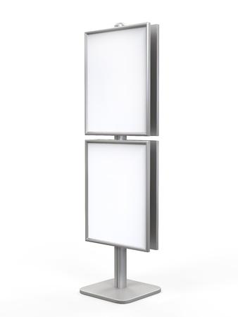 portative: White Display Advertising Stand Stock Photo