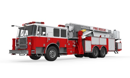 bombero de rojo: Cami�n de Bomberos