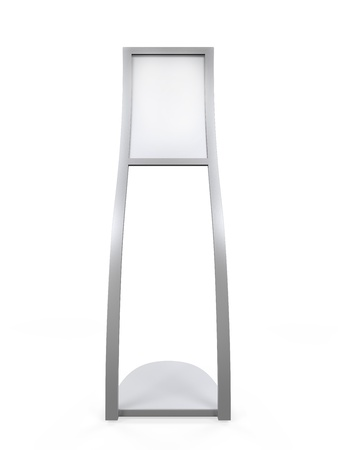 freestanding: Curved Display Advertising Stand Stock Photo