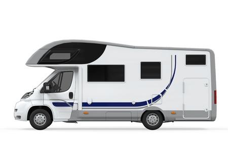 Camper Van Geïsoleerde Stockfoto - 21459874