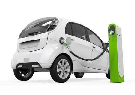 충전 스테이션에 전기 자동차 스톡 콘텐츠 - 21459907
