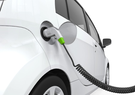 Electric Car in Charging Station photo