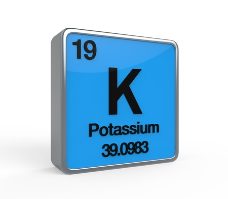 potassium: Potassium Element Periodic Table Stock Photo