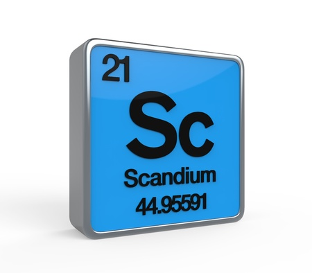 Scandium Element Periodic Table Stock Photo - 21700932