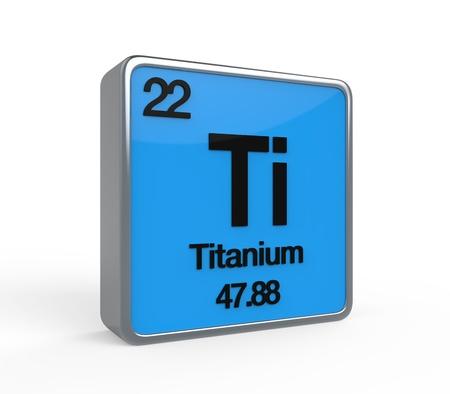 Titanium Element Periodic Table Imagens