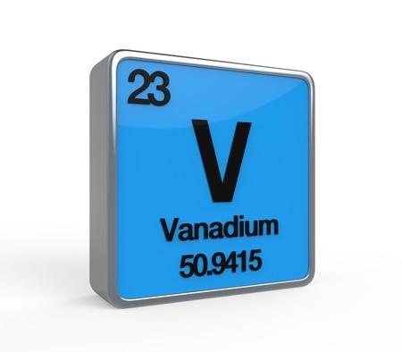 vanadium: Vanadium Element Periodic Table Stock Photo
