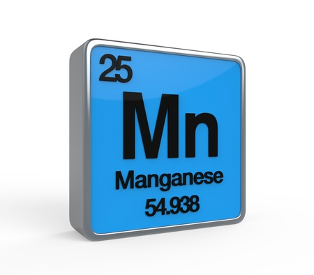 noble gas: Manganese Element Periodic Table Stock Photo