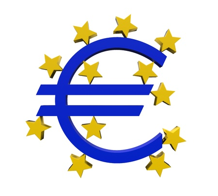 european money: European Central Bank Symbol