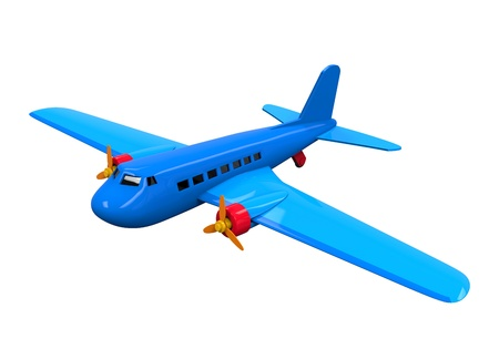 Airplane Toy Isolated Stock Photo