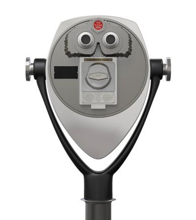 Coin Binocular Viewer Stock Photo